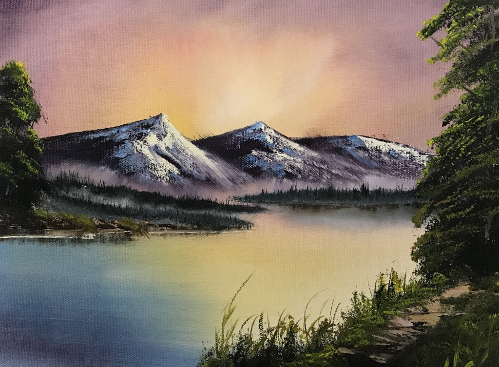 Study 4 – Sunset over the Mountain